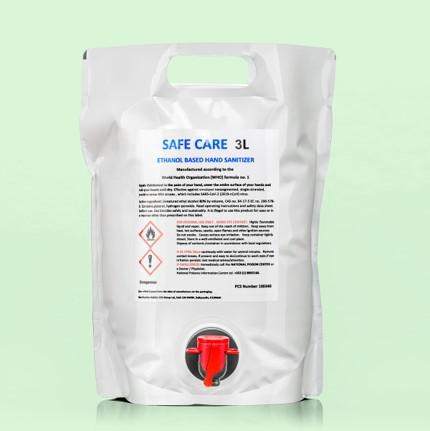 Safe Care 3 Litre bag with dispenser Hand Sanitiser liquid