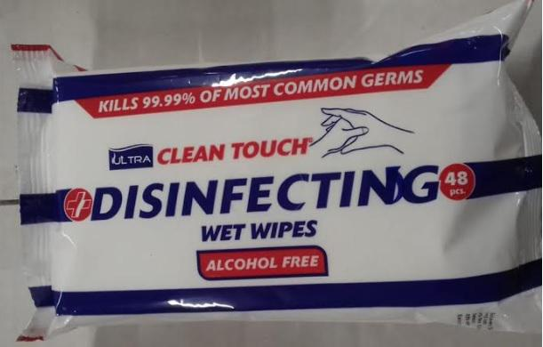 Ultra Clean Touch Disinfecting Hand Wipes alcohol free 48 wipes (Pack of 18)