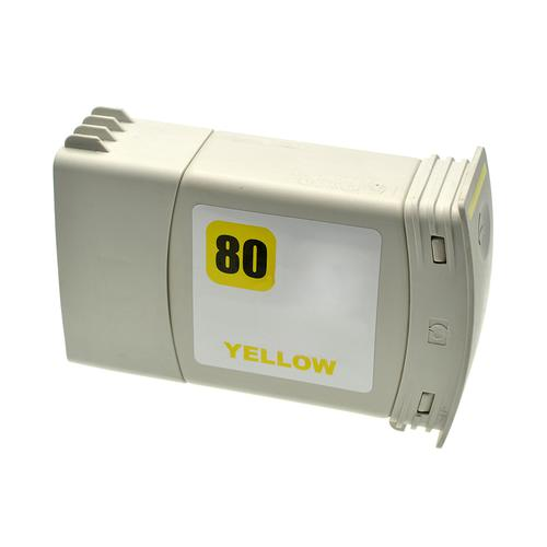 Compatible HP Inkjet 80 C4848A Yellow 350ml *7-10 Day Lead*