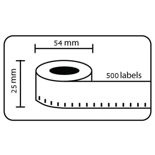 Compatible Dymo S0722520 11352 White 25 x 54mm 500pcs Pack of 10