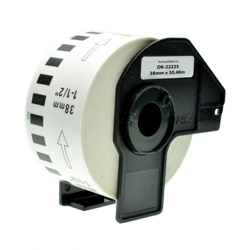 Compatible Brother DK22225 Black on White 38mm x 30.48m Pack of 5