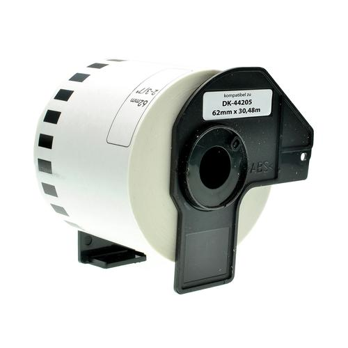 Compatible Brother DK-44205 White Labels 62mmx30/48m *7-10 day lead*