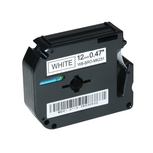 Compatible Brother MK-231BZ Black on White Label Tape 12mm/8m *7-10 Day Lead*