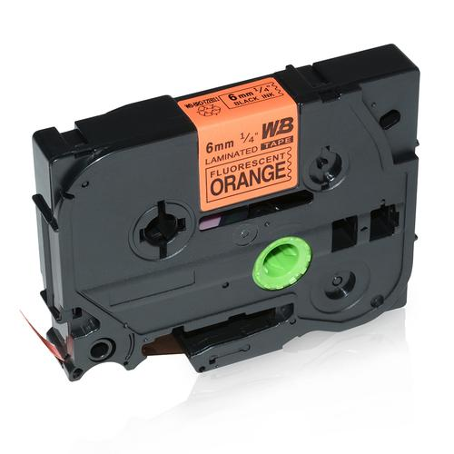 Compatible Brother TZE-B11 Black on Orange Label Tape 6mm/8m *7-10 day lead*