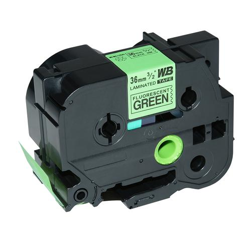 Compatible Brother TZE-D61 Black on Green Label Tape 36mm/8m *7-10 Day Lead*