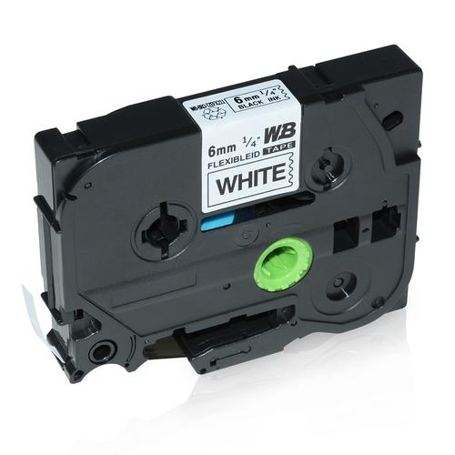 Compatible Brother TZE-FX211 Black on White Label Tape 6mm/8m *7-10 Day Lead*