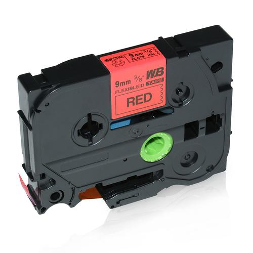 Compatible Brother TZE-FX421 Black on Red Label Tape 9mm/8m *7-10 Day Lead*