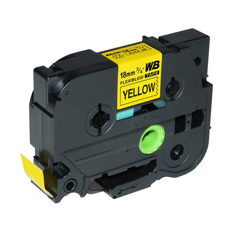 Compatible Brother TZE-FX641 Black on Yellow Label Tape 18mm/8m *7-10 day lead*