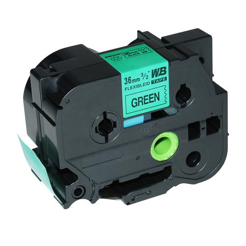 Compatible Brother TZE-FX761 Black on Green Label Tape 36mm/8m *7-10 Day Lead*