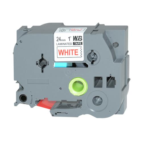 Compatible Brother TZE-252 Red on White Label Tape 24mm/8m *7-10 day lead*