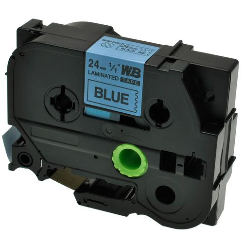 Compatible Brother TZE-551 Black on Blue Label Tape 24mm/8m *7-10 Day Lead*