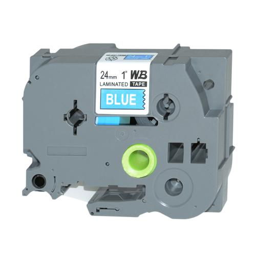 Compatible Brother TZE-555 White/Blue Label Tape 24mm/8m *7-10 day lead*