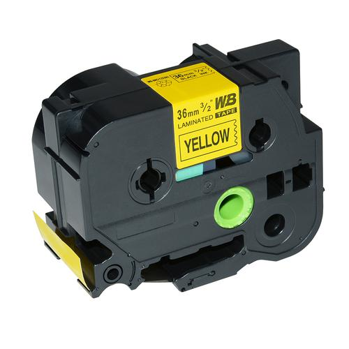 Compatible Brother TZE-661 Black on Yellow Label Tape 36mm/8m *7-10 Day Lead*
