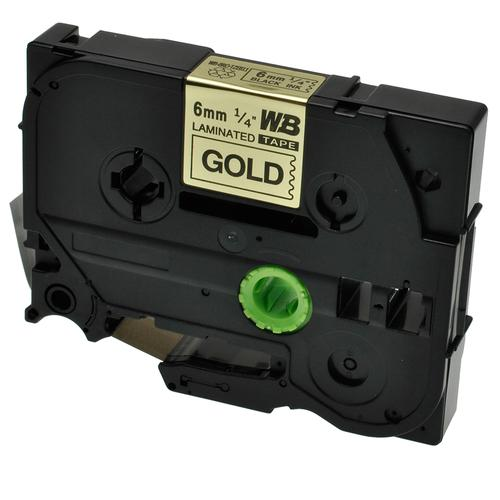 Compatible Brother TZE-811 Black on Gold Label Tape 6mm/8m *7-10 Day Lead*