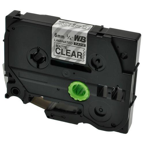 Compatible Brother TZE-M11 Black on Matt Transparent Label Tape 6mm/8m *7-10 Day Lead*
