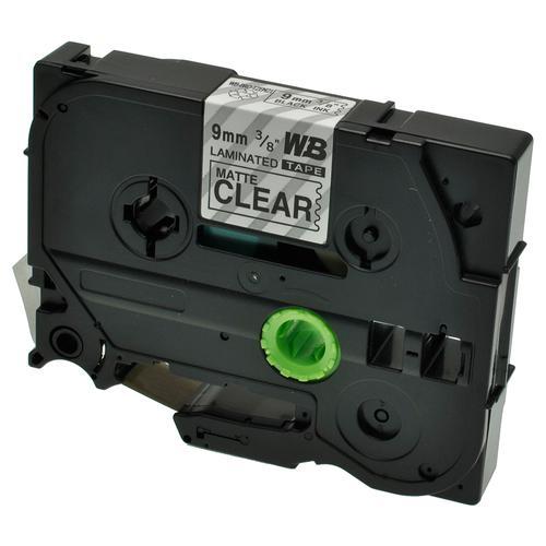 Compatible Brother TZE-M21 Black on Matt Transparent Label Tape 9mm/8m *7-10 day lead*