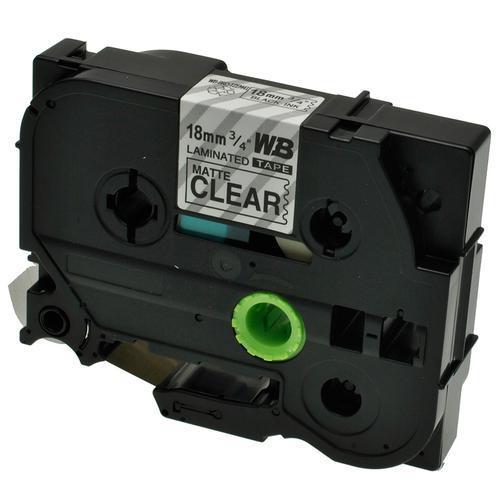 Compatible Brother TZE-M41 Black on Matt Transparent Label Tape 18mm/8m *7-10 Day Lead*