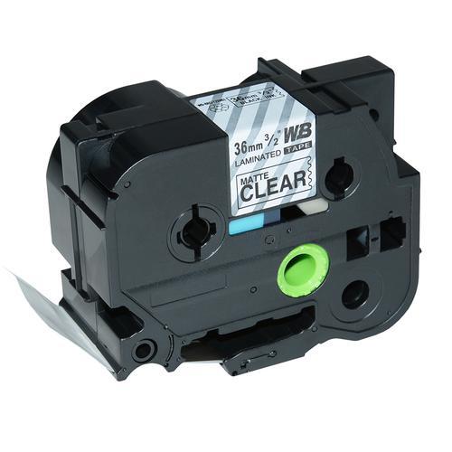 Compatible Brother TZE-M61 Black on Matt Transparent Label Tape 36mm/8m *7-10 Day Lead*