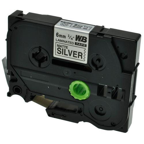Compatible Brother TZE-M911 Black on Matt Silver Label Tape 6mm/8m *7-10 day lead*