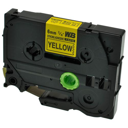 Compatible Brother TZE-S611 Black on Yellow Label Tape 6mm/8m *7-10 day lead*