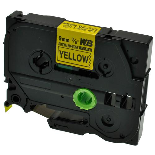 Compatible Brother TZE-S621 Black on Yellow Label Tape 9mm/8m *7-10 Day Lead*