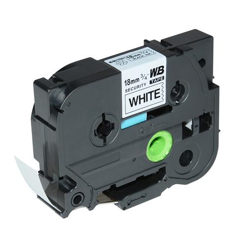 Compatible Brother TZE-SE4 Black on White Label Tape 18mm/8m *7-10 Day Lead*