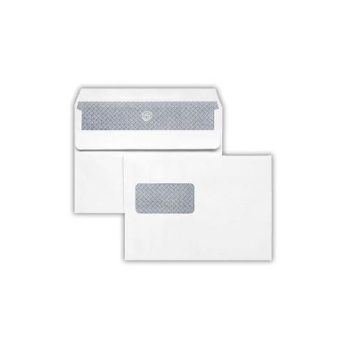 1A43LG - 162x229mm 100gsm White Window Self Seal Wallet Laser Guaranteed 500 Pack