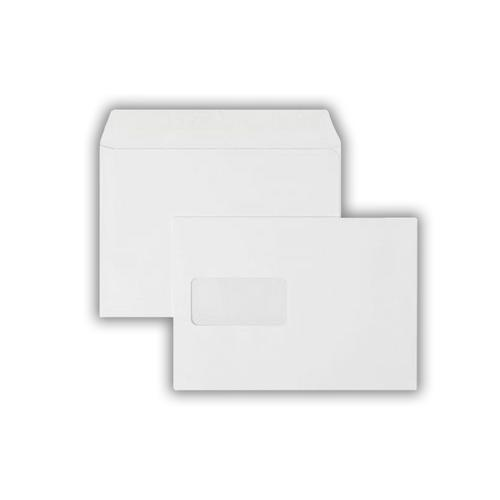 C5 162x229mm Kestrel White 100gsm Window Opaqued Self Seal Wallet 500 Pack