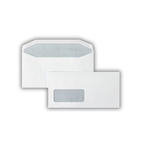 110x220mm 90gsm Hawk White Window Gummed Wallet 500 Pack