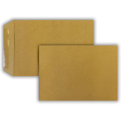 229 x 162mm 115gsm Manilla Pocket Gummed Seal 500 Pack
