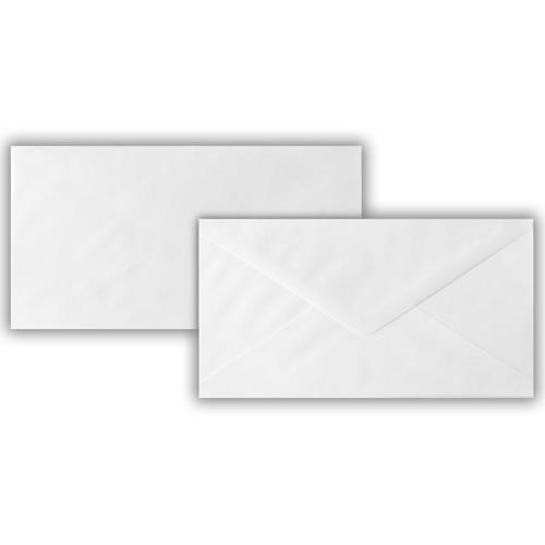 106 x 206mm 90gsm White Greeting Card Wallet Gummed Seal 1,000 Pack