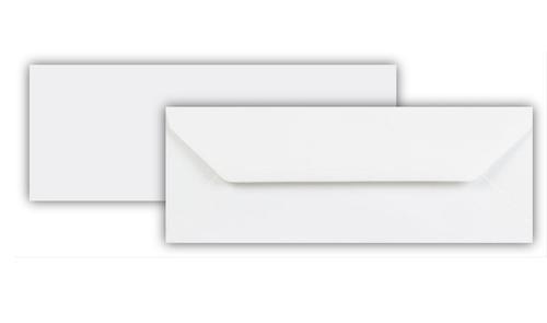80 x 215mm 120gsm White Greeting Card (Bookmark) Wallet Gummed Seal 500 Pack