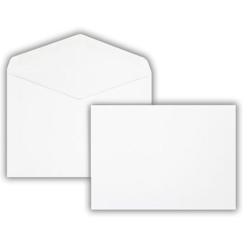 133 x 184mm 120gsm White Greeting Card Wallet Gummed Seal 500 Pack