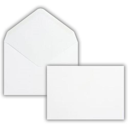 162 x 229mm 80gsm White Greeting Card Wallet Gummed Seal 500 Pack