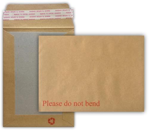 191 x 140mm 115gsm Manilla Board Back Pocket Peel & Seal 125 Pack