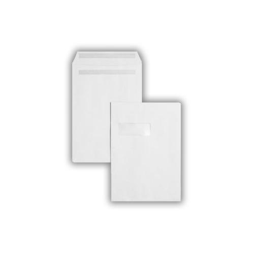 C4 324x229mm 100gsm White Window Peel & Seal Pocket Laser Guaranteed 250 Pack