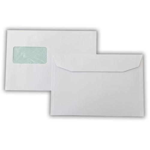 162x240mm 90gsm White Fully Recyclable Window Wallet Gummed