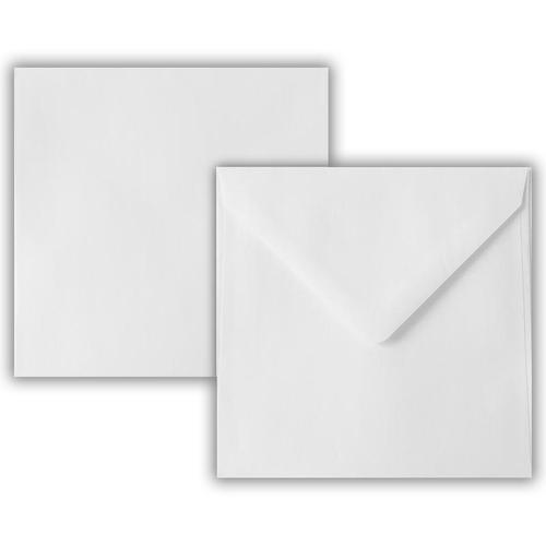 145 x 145mm 100gsm White Greeting Card Wallet Gummed Seal 500 Pack