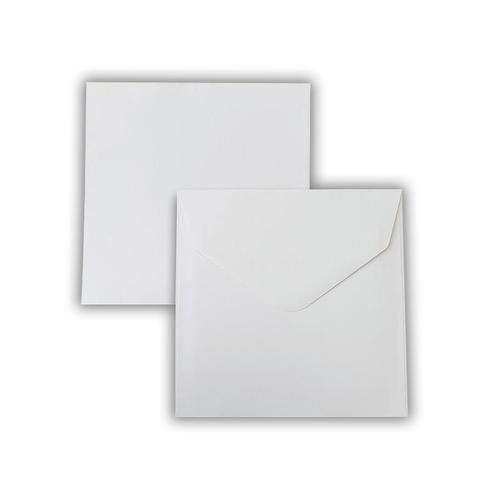 155x155mm 100gsm White Wallet Gummed Non Opaqued Diamond Flap Greeting Card