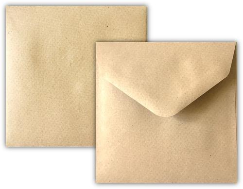 155x155mm 115gsm Recycled Manilla Wallet Gummed Non Opaqued Diamond Flap Greeting Card Envelope 500 Pack