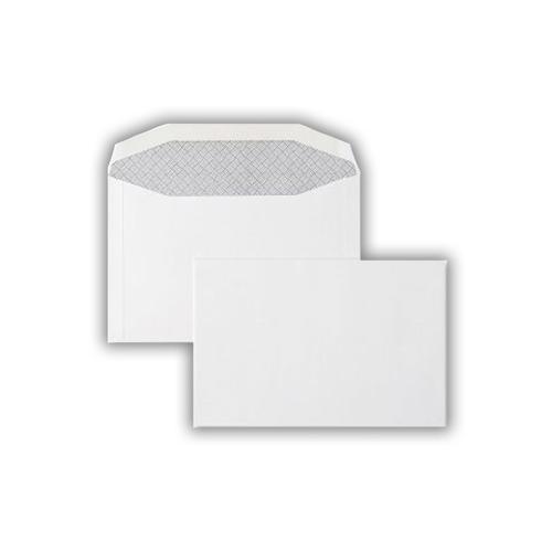 1W22 - 114x171mm 90gsm White Gummed Wallet 500 Pack