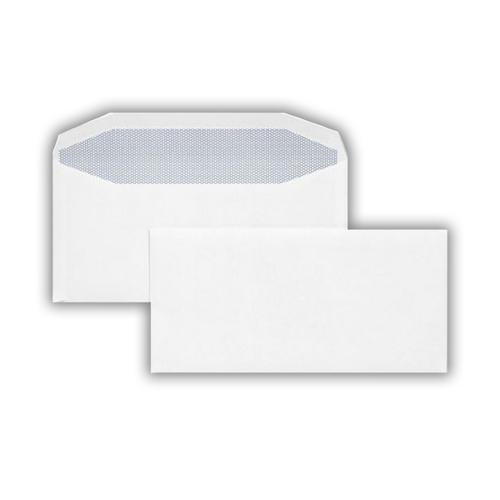 1W27IS - 114x235mm 90gsm White Gummed Wallet 500 Pack