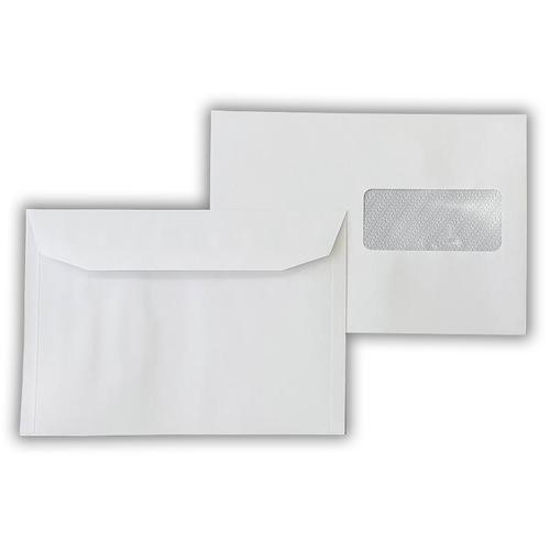 162x229mm 90gsm White Window Wallet Gummed Right Hand Side Window
