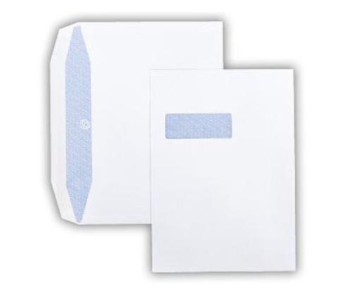 229 x 324mm 100gsm White Window Wallet Inside Seams Gummed Seal 250 Pack