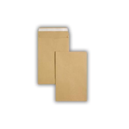 381x254x25mm Manilla 135gsm Peel & Seal Gusset Pocket 125 Pack