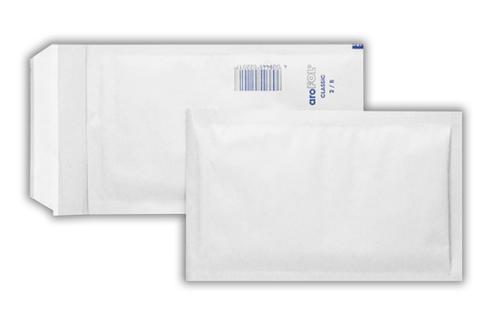 220x265mm White Peel & Seal Padded Bag 100 Pack