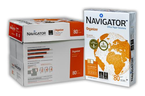 Navigator A4 80gsm Organiser Paper Punched 4 Holes For Filing 500 Sheets/Ream