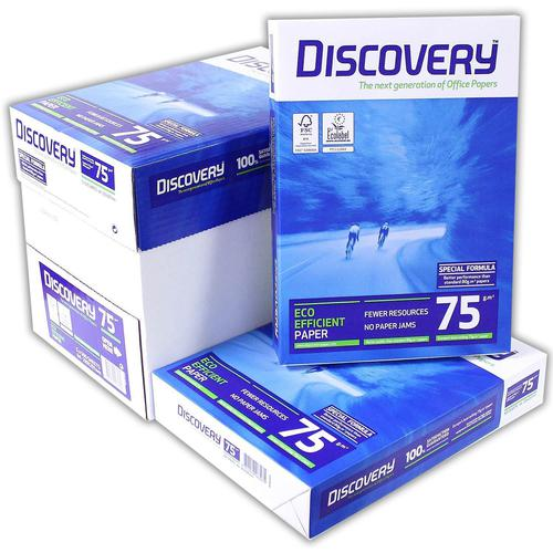 A4 (297 x 210mm) 75gsm White Discovery Copier Paper (Pallet 240 Reams)