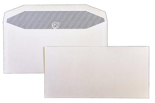 DL 110x220mm Autofast White 90gsm Opaqued Gummed Wallet 500 Pack
