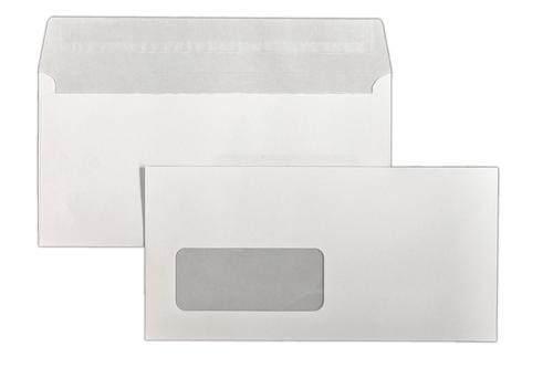 110x220mm 120gsm White Superior Range Window Peel & Seal Wallet Laser Guaranteed 500 Pack